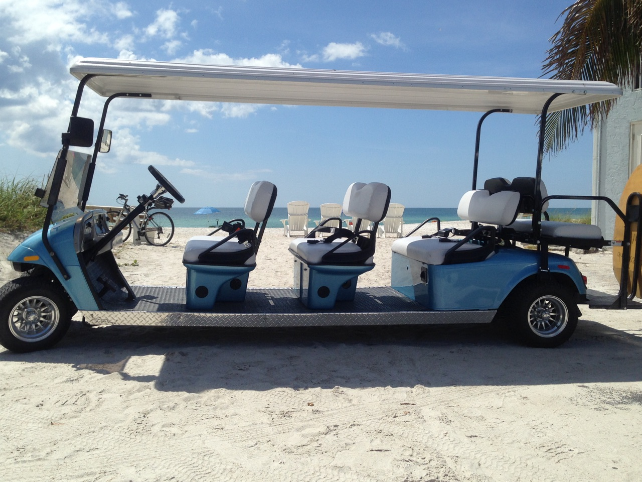 8 passenger golf cart rentals